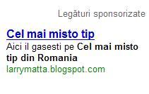 cel mai misto tip din Romania, acum si pe Adsense