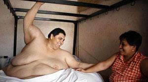 Cel mai gras on din lume in patul conjugal