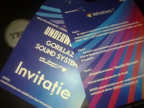 Invitatii concert Windows 7