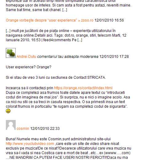 Comentariu neaprobat pe Orange.ro