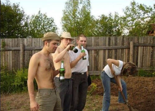 La munca sau la bere