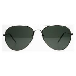 ochelari de soare Aviator cu rama gunmetal
