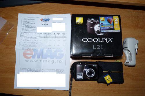 Nikon Coolpix L21 castigat la concursul de la emag