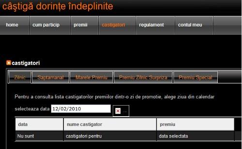 lista castigatorilor la concursul Castiga dorinte indeplinite de la Orange