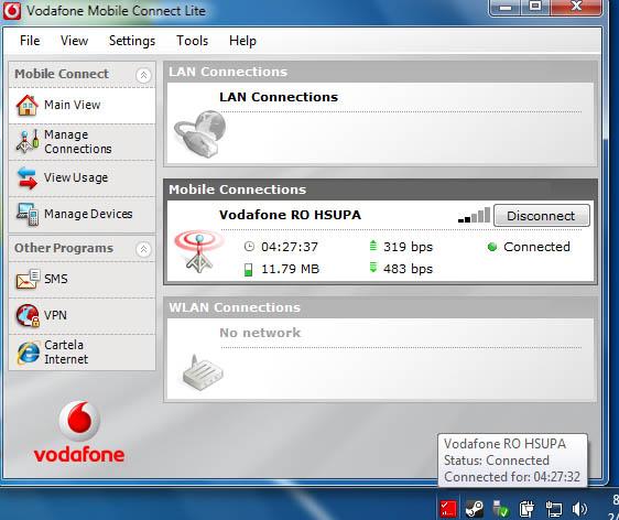 Internet mobil gratuit de la Vodafone