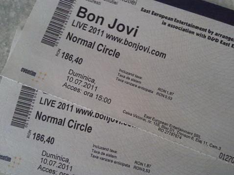 Bilete concert Bon Jovi