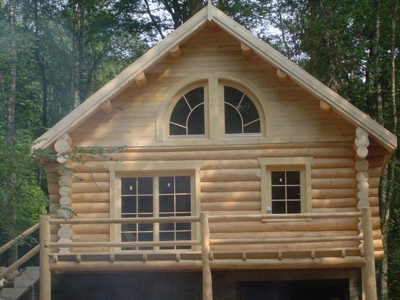 case din lemn rotund zambesc