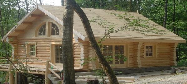 casa de lemn rotund